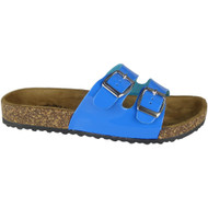 Sherlyn Blue Strappy Flats Slippers