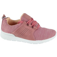 """TANYA"" Pink Fitness Gym Running Lace Up Trainers"