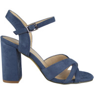 """WINSTON"" Blue Buckle Ankle Strap High Heel Sandals"