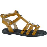 Audrey Tan Gladiator Flat Sandals