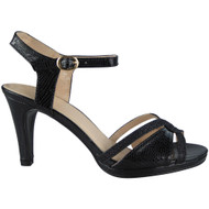 """CARISSA"" Black Strappy Wedding Bridal Bridesmaid Party Sandals"