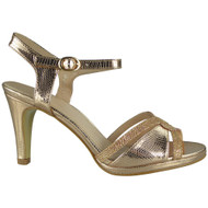 """CARISSA"" Champagne Strappy Wedding Bridal Bridesmaid Party Sandals"