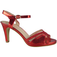Carissa Red Strappy Party Sandals