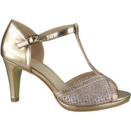 """""""DARLENA"""" Champagne Strappy Heels Wedding Bridal Party Shoes"""