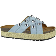 Danita Blue Slip On Espadrilles Slippers