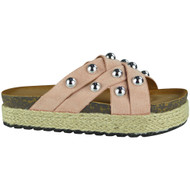 Danita Pink Slip On Espadrilles Slippers