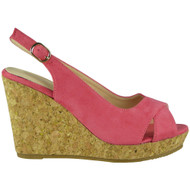 Isabel Pink Platform Wedge Sandals