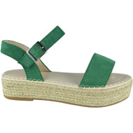 Adeliade Green Open Toes Summer Strap Sandals