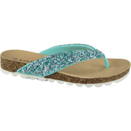Afia Turquoise Toe Post Summer Chappal Sandals