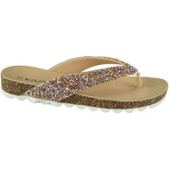 Afia Gold Toe Post Summer Chappal Sandals