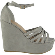 Lillian Grey Peep Toes Platform Heel Sandals