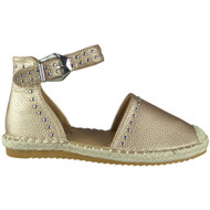 Savannah Champagne Studded Ankle Strap Espadrilles