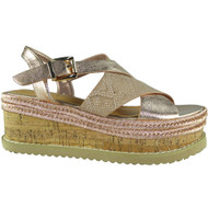 Serenity Champagne Peep Toes Summer Sandals