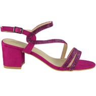 Kenzie Fuchsia Diamante Heel Sandals
