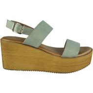 Makayla Grey Sling Back Buckle Sandals