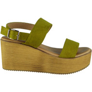 Makayla Green Sling Back Buckle Sandals