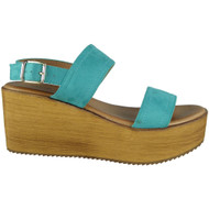 Makayla Blue Sling Back Buckle Sandals