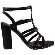 Vanessa Black Strappy Heel  Sandals