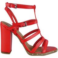 Vanessa Red Strappy Heel  Sandals