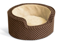 K&H Round Comfy Sleeper Dog Bed (Self Warming)