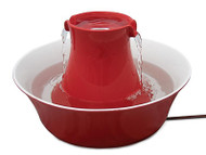 PetSafe Drinkwell Avalon Stoneware Pet Fountain 70 oz.-Red