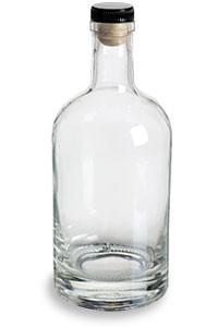 Heavy Base Liquor Bottle With T Top Cork 750 Ml