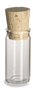 5/8 oz (5 dram) Clear Glass Vial with Cork - VC5C