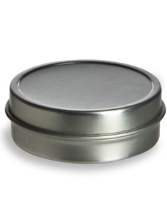 1 oz Flat  Tin Container with Slip Cover - TNF1