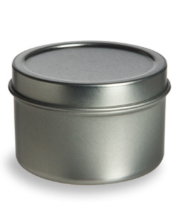 Tin Deep Container 1oz w/ Cover