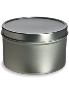 8 oz Deep Tin Container with Slip Cover - TND8