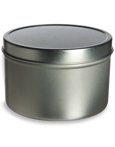 Tin Deep Container 16oz w/ Cover