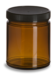 Amber Glass Spice Jar 9oz Specialty Bottle