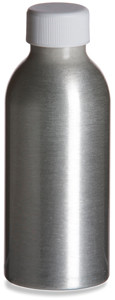 Aluminum Bottle 4oz w/ White Cap