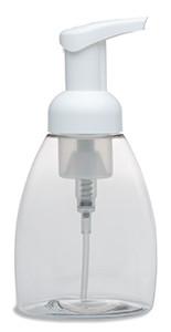 250 ml Clear Tabletop PET Plastic Bottle with Foamer Pump - PTT250