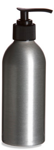 Aluminum Bottle 8oz w/ Black Pump