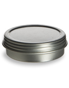 1 oz Flat Tin  Container with Screwtop Cover - TSC1