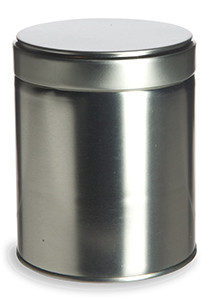 "3.4""  by 4.2"" Wide Tea Tin with Twist Cover - TWS4"