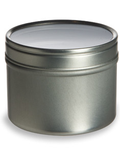 Tin Deep Container 4oz w/ Clear Top Cover