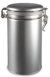 "6.5"" High Round Tea Tin with Latch Cover - TLAT6"