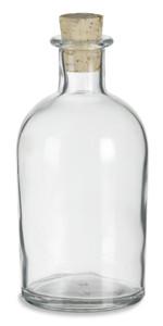8.5 oz (250 ml) Boston Glass Bottle with Cork - CKBS250