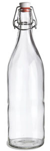 1 Liter (34 oz) Clear Giara Glass Bottle with Swing Top - GIAR34ST