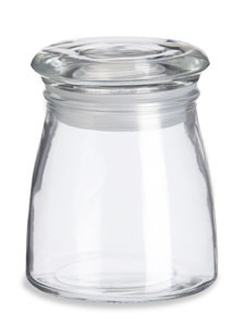 4 oz Studio Glass Candle Jar with Glass Lid - CAST4