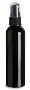 4 oz Black PET Cosmo Plastic Bottle with Black Atomizer - PKR4AB