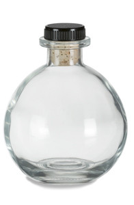 8.5 oz (250 ml) Round Glass Bottle 8.5 oz with T Top Cork - CKRD250T