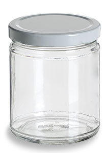 Straight Sided Glass Jar With White Lid 9 Oz Specialty