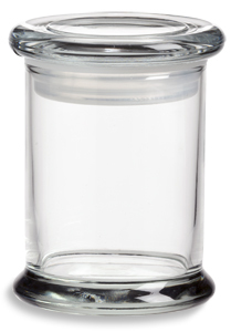 Elite Glass Candle Jar W Glass Lid 8oz Specialty Bottle
