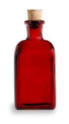 Spanish recycled red glass bottle w cork 8oz specialty for Easy break glass bottles
