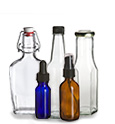 Glass Bottles, Amber Bottles, Corked Bottles, Sauce Bottles, Swingtop Water Bottles, Jugs, Vials