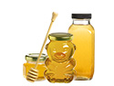 Honey jars, large variety of sizes and shapes.