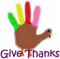 Give Thanks Hand Turkey